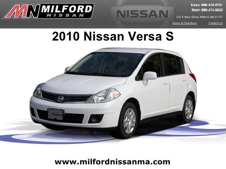 Used 2010 Nissan Versa - Milford Nissan Worcester, MA