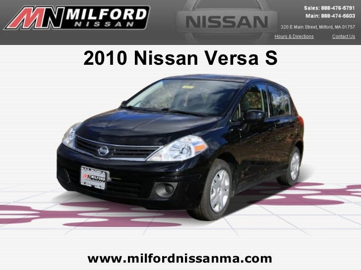 Used 2010 Nissan Versa S - Milford Nissan Worcester, MA