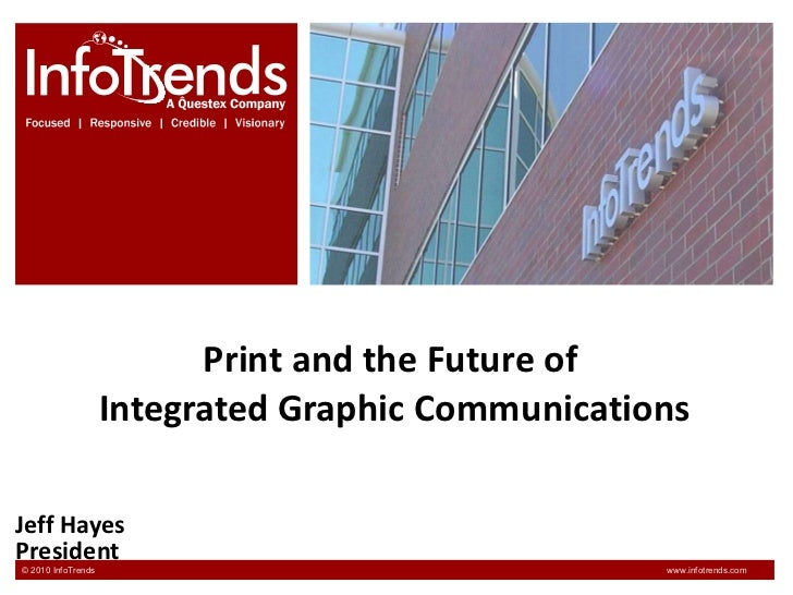 Print and the Future of  Integrated Graphic Communications Jeff Hayes President