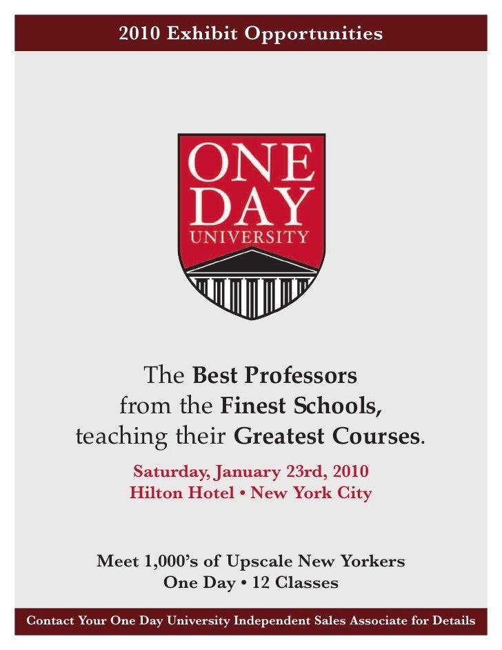 One Day University 2010