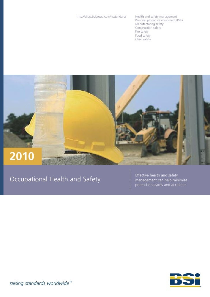 2010 Occupational Health and Safety Brochure
