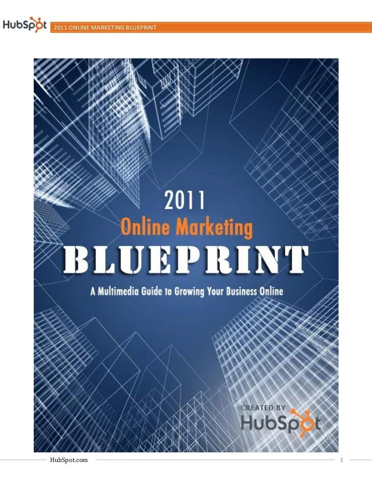 2011 ONLINE MARKETING BLUEPRINTHubSpot.com                        1