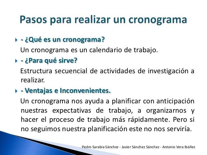 2010 pasos para realizar un cronograma for Pasos para elaborar un vivero
