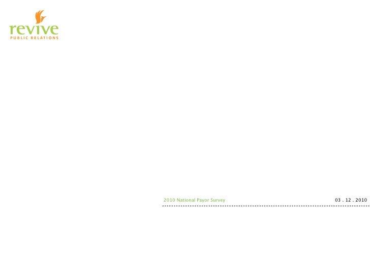 !         2010 National Payor Survey   03 . 12 . 2010