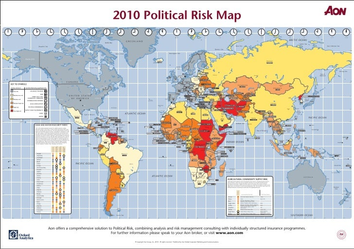 Aon\'s 2010 Global Risk Map