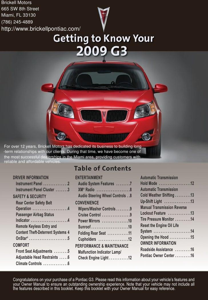 2010 Pontiac G3 Miami