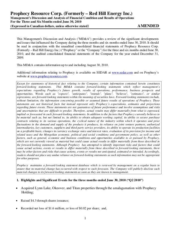 2010 Q2 md&a & interim financial statements