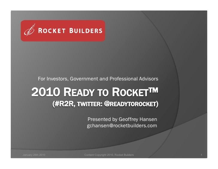 2010 Ready To Rocket