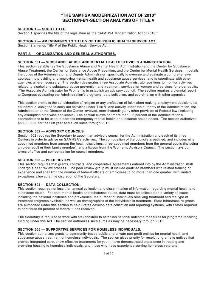 2010 samhsa section by section final