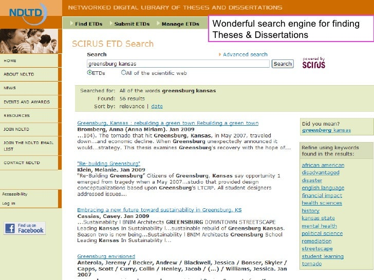 Online thesis search