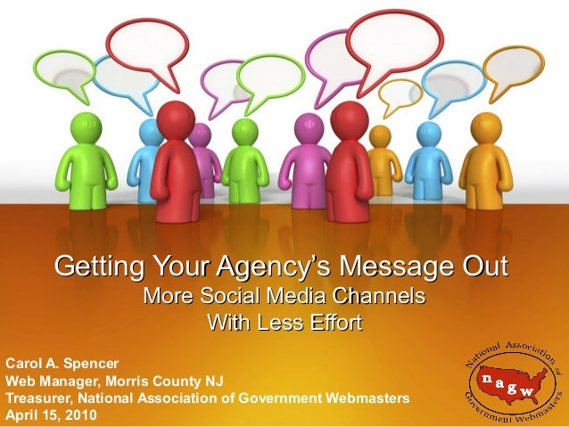 2010: PA Parks & Rec Soc: Getting Your Agency's Message Out