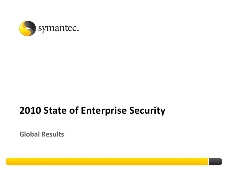 2010 State Of Enterprise Security