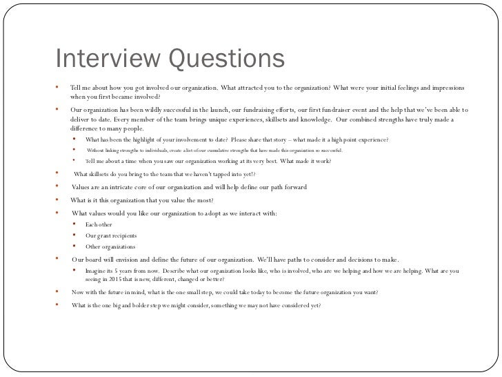 Interview question template