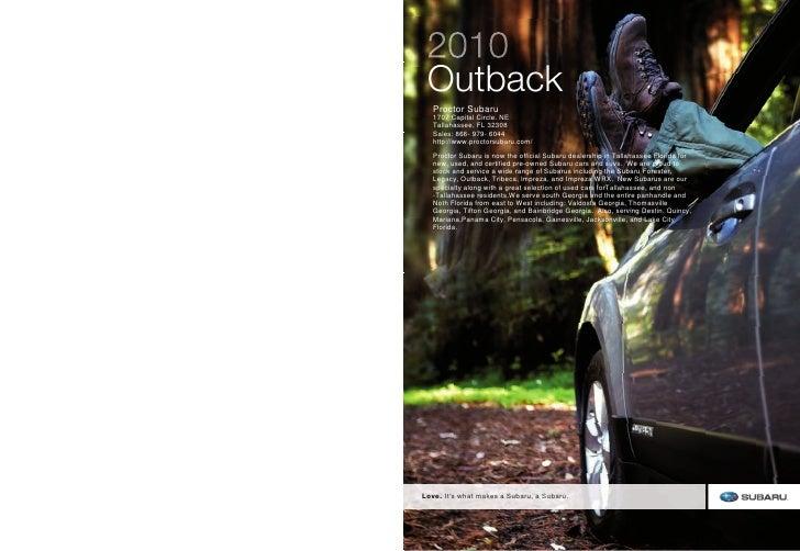 2010 Subaru Outback near Panama City, FL
