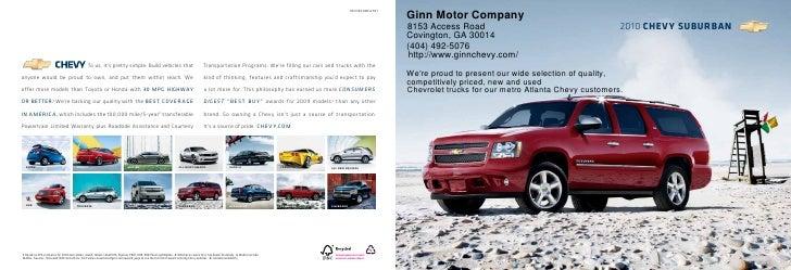 2010 Ginn Motor Company Suburban Atlanta GA