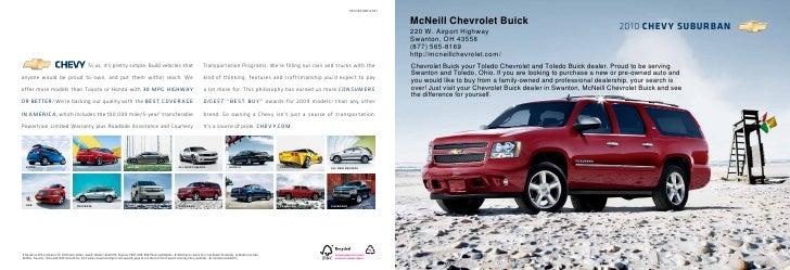 2010 McNeill Chevrolet Buick Suburban Toledo OH