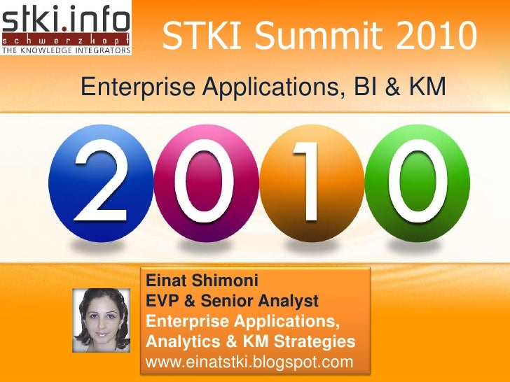 2010 Enterprise Applications, BI & KM Trends