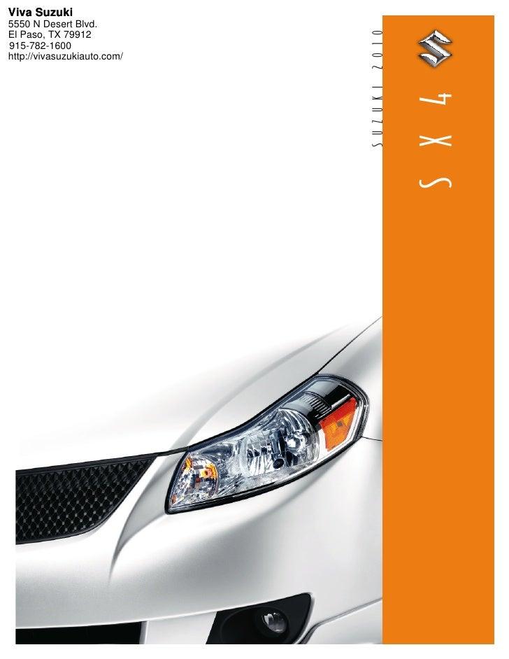 2010 Suzuki SX4 Sedan Viva Suzuki El Paso TX