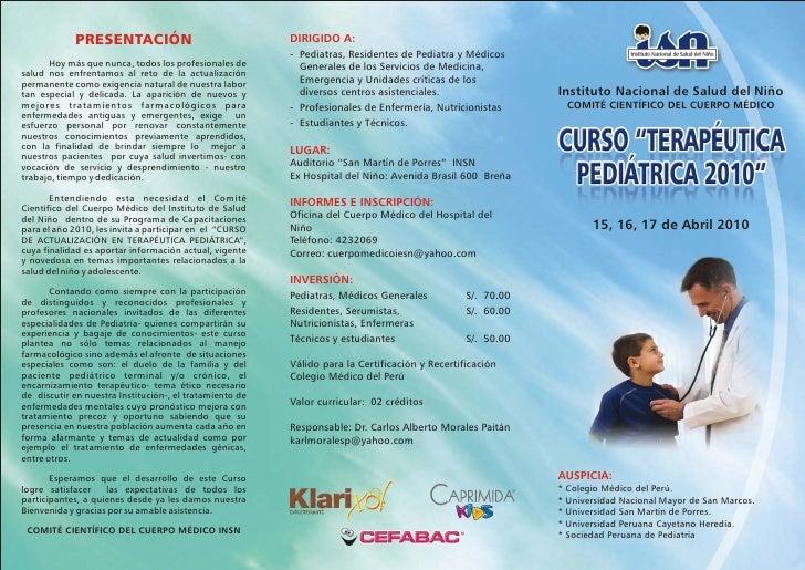 Terapeutica Pediatrica - Triptico