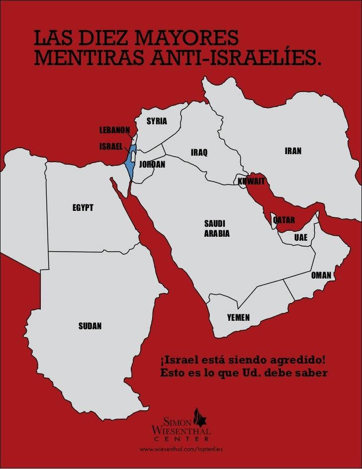 CENTRO SIMON WIESENTHAL: LAS dIEz MAyORES MENTIRAS ANTI-ISRAELíES.  LAS dIEz MAyORESOLUTION  MENTIRAS ANTI-ISRAELíES.     ...
