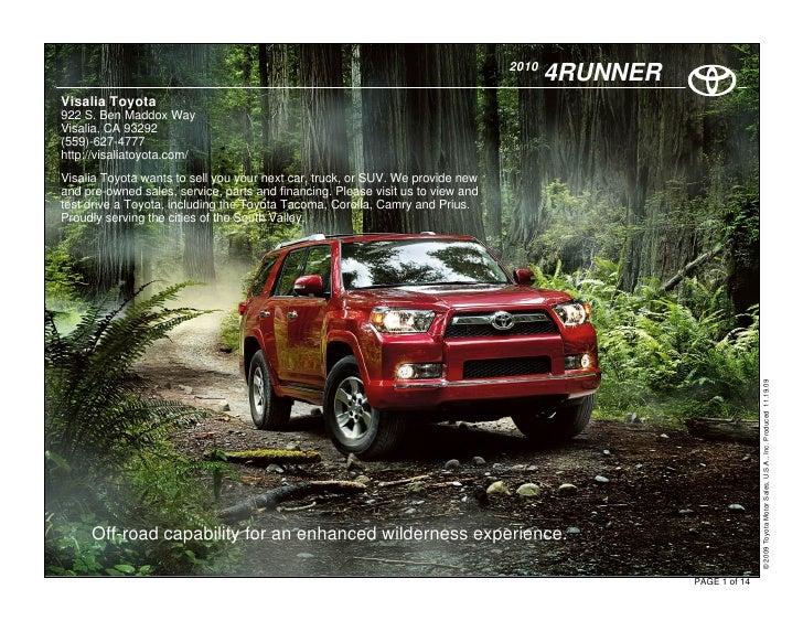 2010                                                                                         4RUNNER Visalia Toyota 922 S....