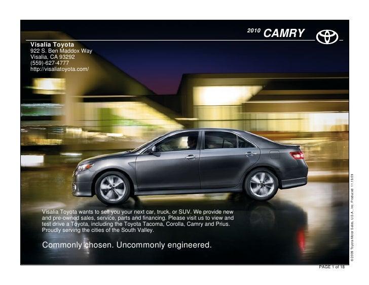 2010                                                                                             CAMRY Visalia Toyota 922 ...