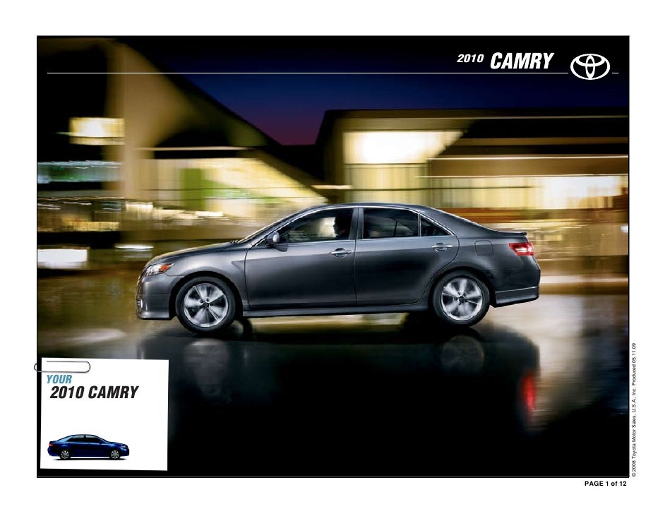 2010  Toyota  Camry Brochure from Toyota of Des Moines