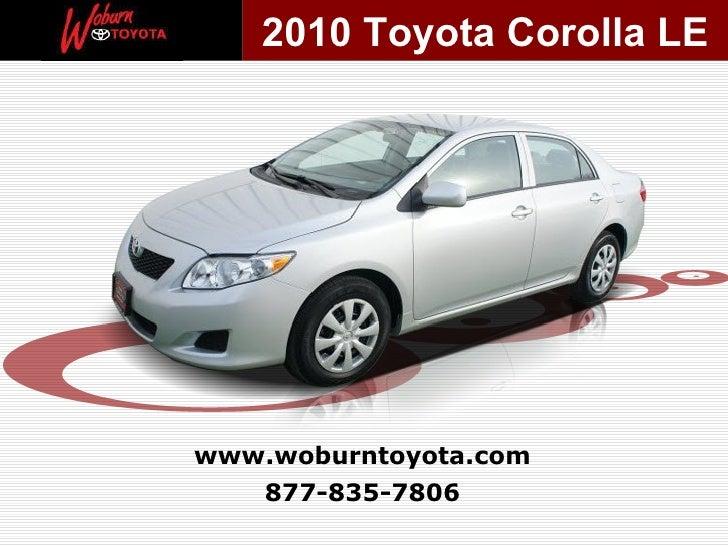 Used 2010 Toyota Corolla LE -  Boston