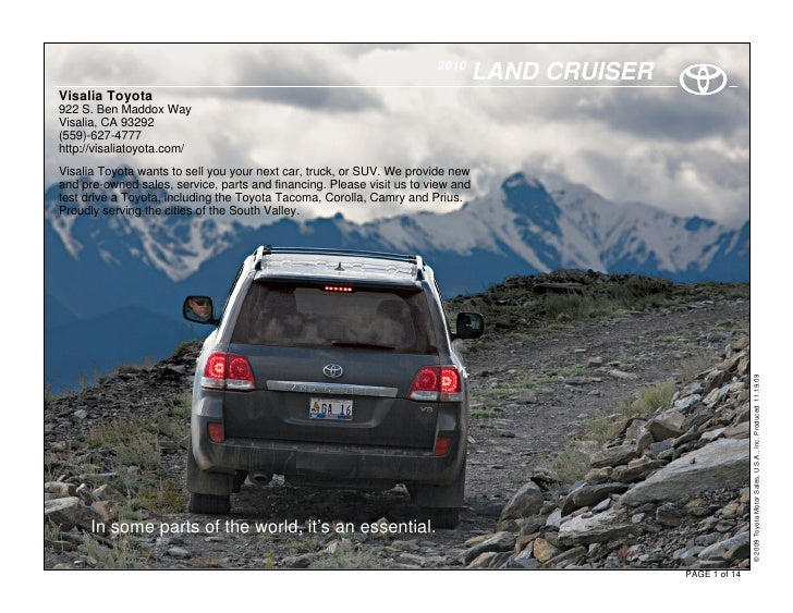 2010                                                                                  LAND CRUISER Visalia Toyota 922 S. B...