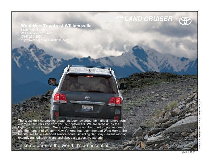 2010                                                                         LAND CRUISER  West Herr Toyota of Williamsvil...