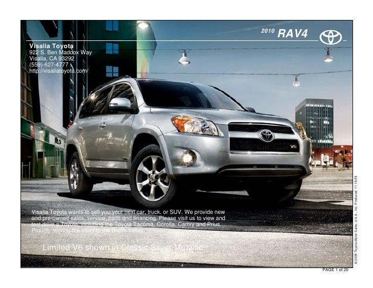 2010 Toyota Rav 4 Fresno, CA
