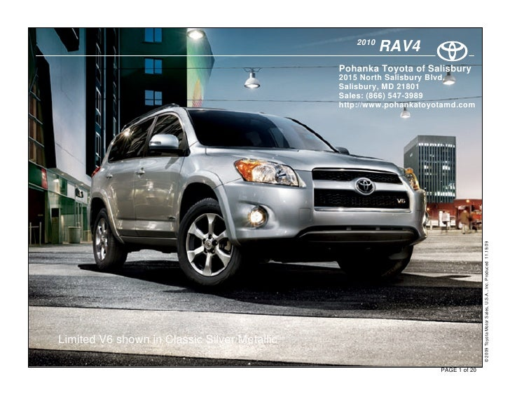 2010 Toyota Rav4 in Salisbury, MD