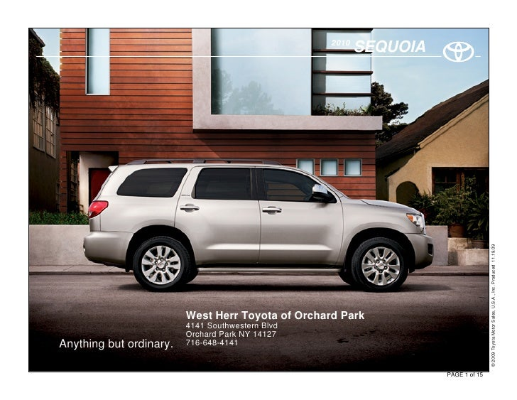 2010 Toyota Sequoia Orchard Park