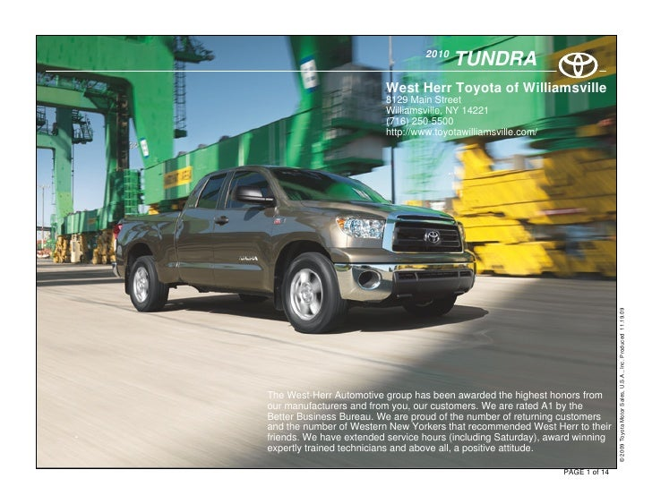 2010                                              TUNDRA                              West Herr Toyota of Williamsville   ...