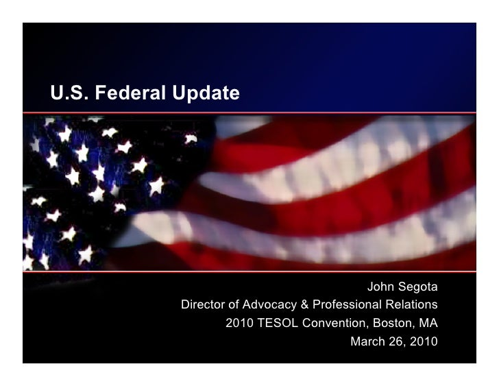 US Federal Update - March 2010