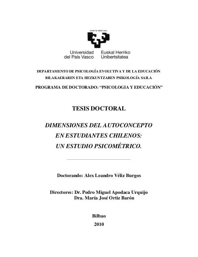 DEPARTAMENTO DE PSICOLOGÍA EVOLUTIVA Y DE LA EDUCACIÓN   BILAKAERAREN ETA HEZKUNTZAREN PSIKOLOGÍA SAILAPROGRAMA DE DOCTORA...