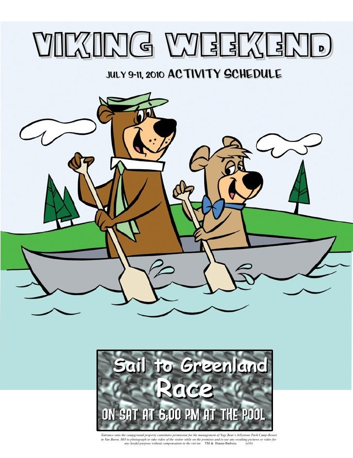 Viking Weekend       July 9-11, 2010                              Activity Schedule                Sail to Greenland      ...
