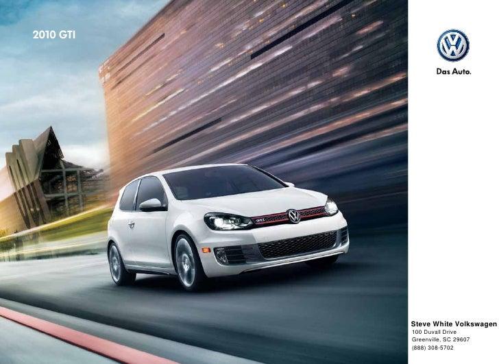 2010 Volkswagen GTI Brochure - Greenville Columbia SC