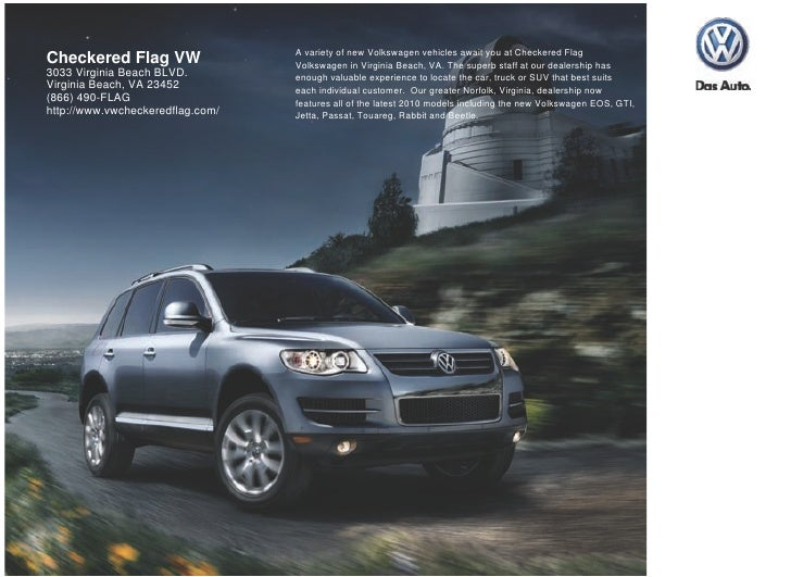 A variety of new Volkswagen vehicles await you at Checkered Flag Checkered Flag VW                 Volkswagen in Virginia ...