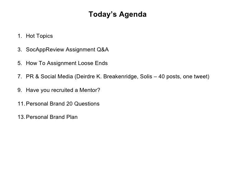 2010 Week 3, Day 1   Pr & Social Media