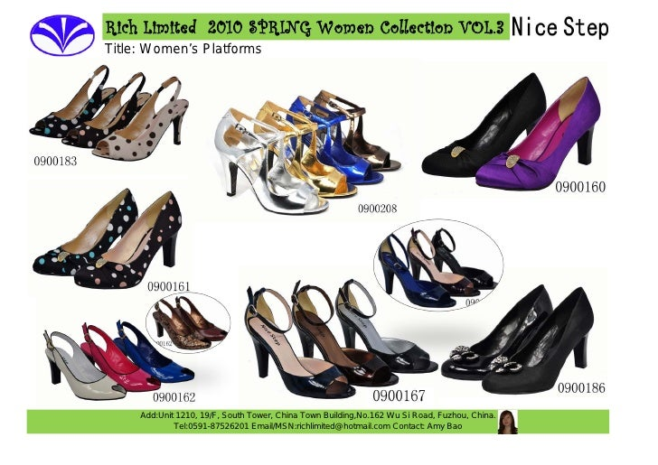 Rich Limited 2010 SPRING Women Collection VOL.3 Title: Women's Platforms          Add:Unit 1210, 19/F, South Tower, China ...