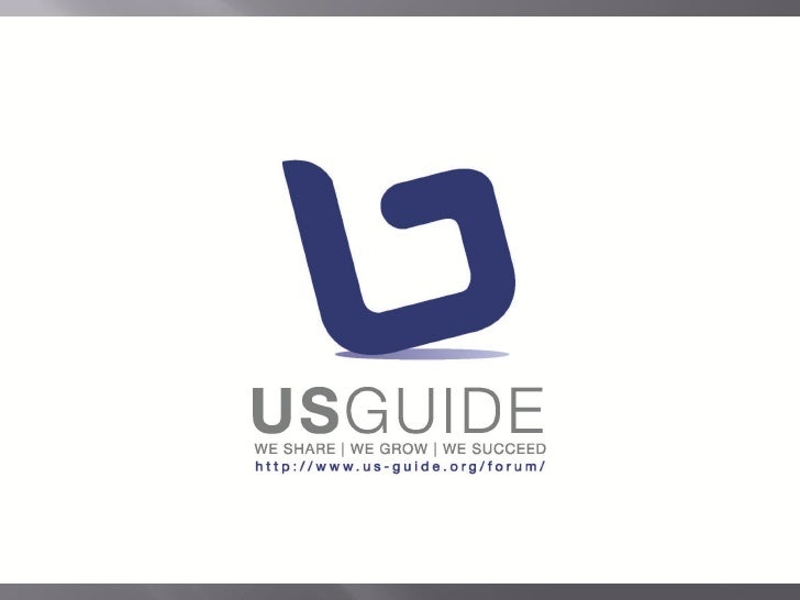 1. USGuide Introduction 2. You Can Do It Snap Shots 3. You Can Do It 2010 & Sponsorship                      May, 2010