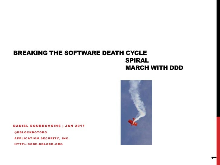 Breaking the Software Death Cycle with Domain-Driven Design