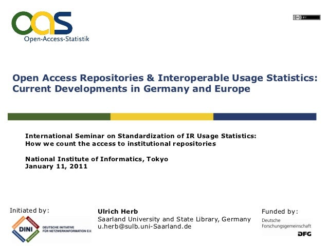 Open Access Repositories & Interoperable Usage Statistics:Current Developments in Germany and Europe     International Sem...