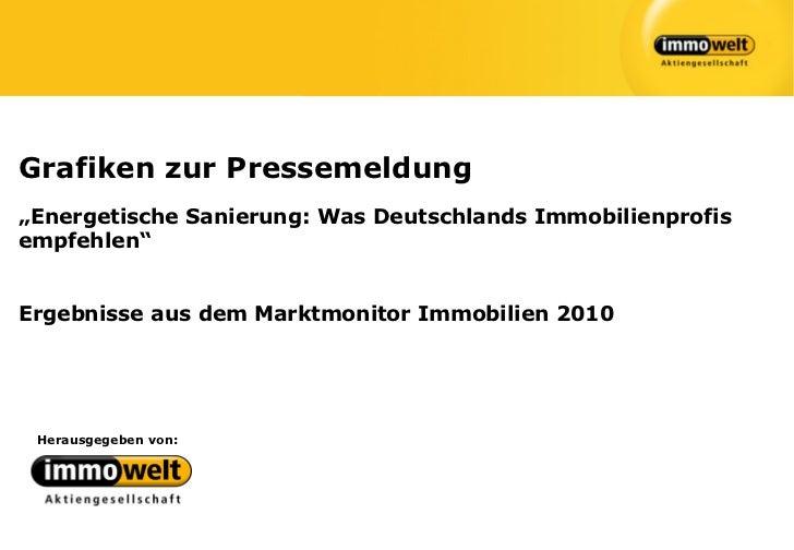 """Grafiken zur Pressemeldung""""Energetische Sanierung: Was Deutschlands Immobilienprofisempfehlen""""Ergebnisse aus dem Marktmoni..."""