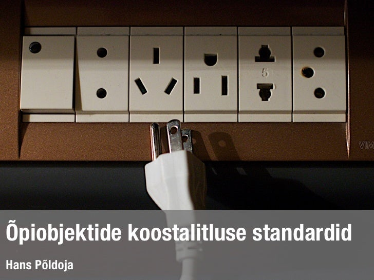 Õpiobjektide koostalitluse standardid