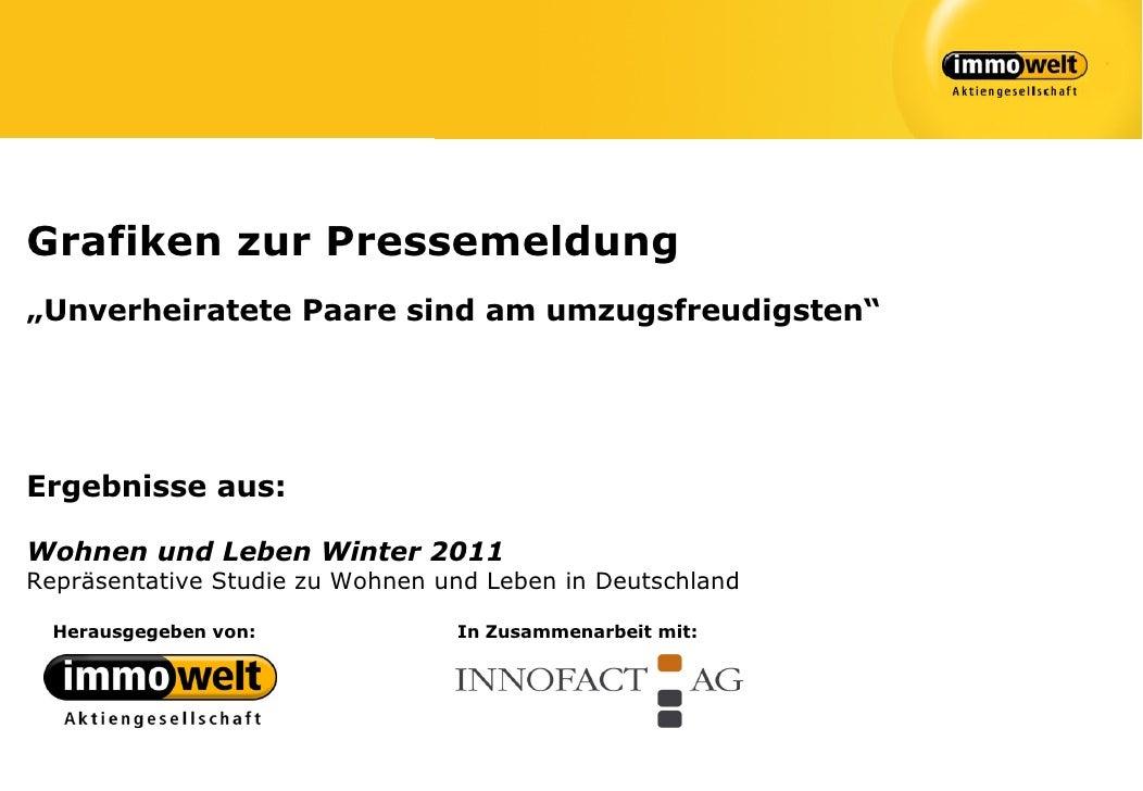 """Grafiken zur Pressemeldung""""Unverheiratete Paare sind am umzugsfreudigsten""""Ergebnisse aus:Wohnen und Leben Winter 2011Reprä..."""