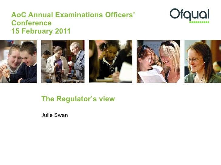 The Regulator's View