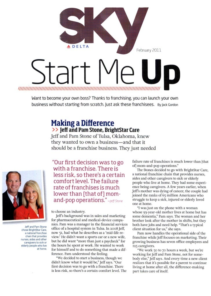 Making a Difference - Jeff and Pam Stone, BrightStar Care