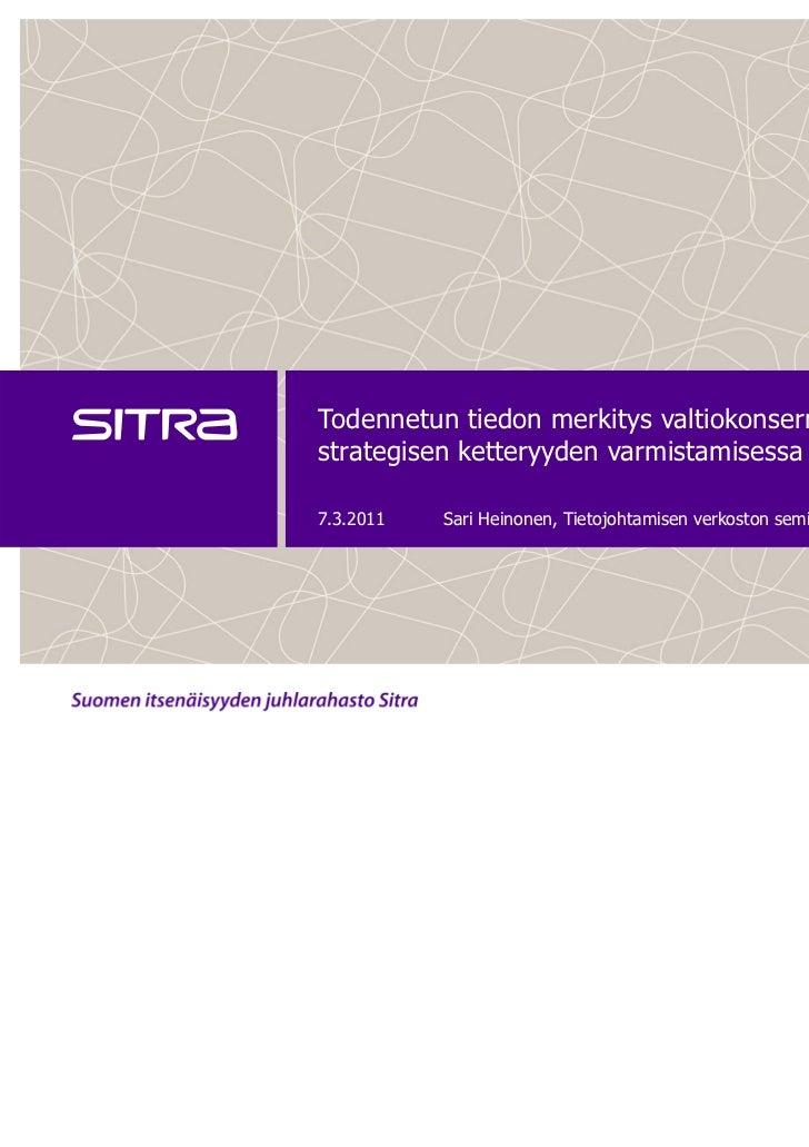 Tietojohtamisen verkoston miniseminaari 8.3.2011